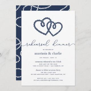 Knotted Hearts Ceremony Rehearsal & Dinner Invite