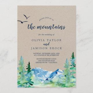 Kraft Join Us In The Mountains Destination Wedding Invitations