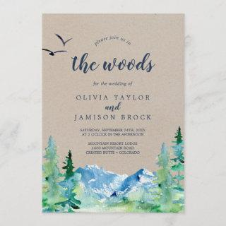 Kraft Join Us In The Woods Destination Wedding Invitations
