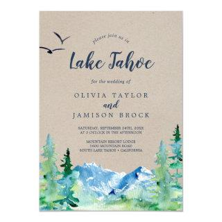 Kraft Lake Tahoe Mountain Destination Wedding Invitations