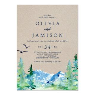 Kraft Rocky Mountain Casual Destination Wedding Invitation