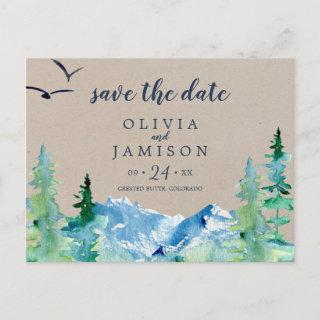 Kraft Rocky Mountain Destination Save the Date Invitation Postcard