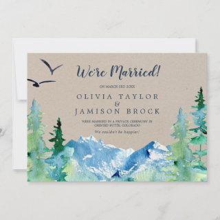Kraft Rocky Mountain Elopement Announcement