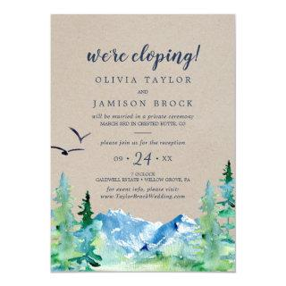 Kraft Rocky Mountain Elopement Reception Invitations