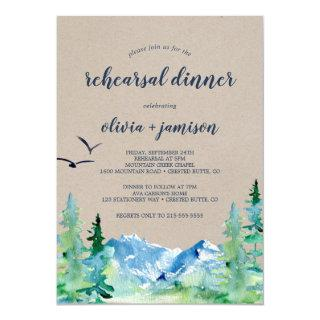 Kraft Rocky Mountain Rehearsal Dinner Invitation