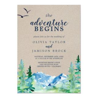Kraft Rocky Mountain The Adventure Begins Wedding Invitations