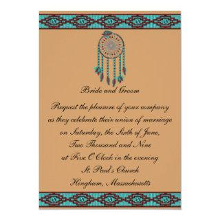 KRW Border Dreamcatcher Custom Wedding Invitations