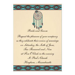 KRW Border Dreamcatcher Custom Wedding Invitation