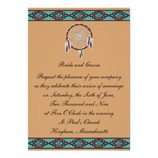 KRW Border Dreamcatcher Wedding Invitations