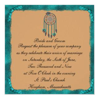 KRW Framed Dreamcatcher Custom Wedding Invitation