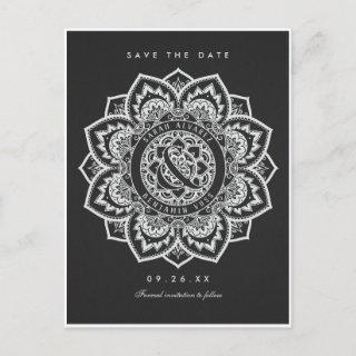 Lace Mandala Save the Date Wedding Postcards