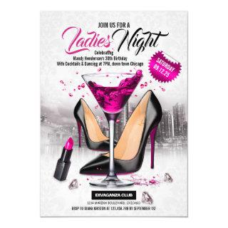 Ladies Night Girls Night Out Birthday Party Invitations