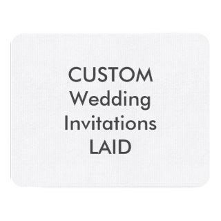 "LAID 100lb 5.5"" x 4.25"" Wedding Invitations"