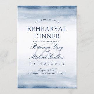 Lake Harbor Fog | Rehearsal Dinner Invite