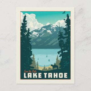 Lake Tahoe | Save the Date Announcement Postcard
