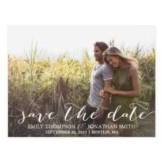 Landscape Photo Wedding Save The Date Postcard