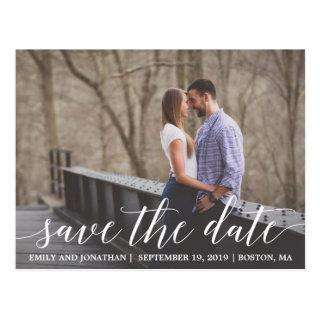 Landscape Picture Save The Date Postcard, Photo Postcard