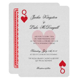 Las Vegas Casino Playing Card Wedding Invitations