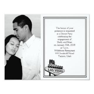 Las Vegas Destination Wedding Engagement Invitations