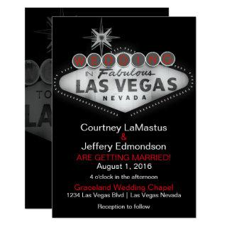 Las Vegas Destination Wedding Invitations