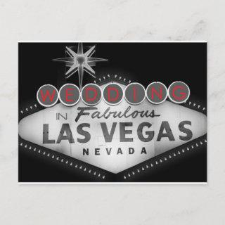 Las Vegas Destination Wedding RSVP Invitations Postcard