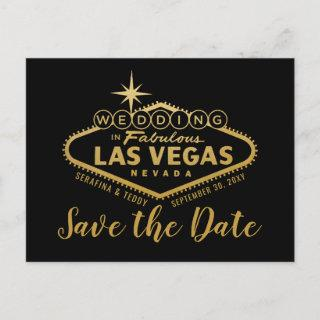 Las Vegas Destination Wedding Save the Date Announcement Postcard