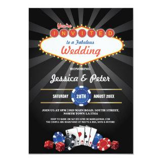 Las Vegas Wedding Casino Dice Party Invite