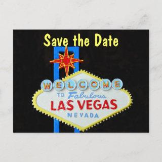 Las Vegas Wedding Save the Date Announcement Postcard