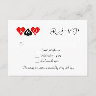 Las Vegas wedding theme RSVP wedding cards