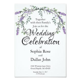 Lavender  and Eucalyptus Invitations
