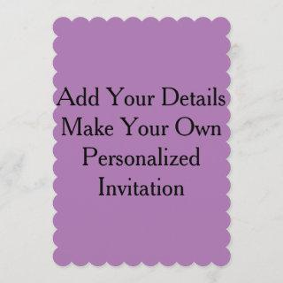Lavender Purple Create Your Own Blank Invites