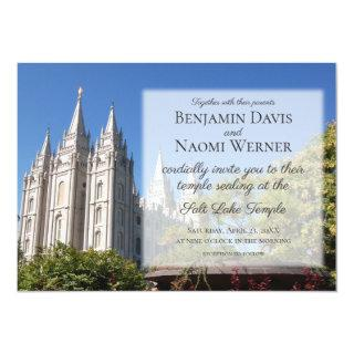 LDS Salt Lake Temple Wedding Invitations