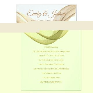 LDS Temple Wedding Invitation-The Veil Invitation