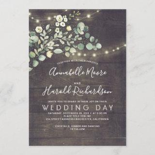 Leafy Greenery | Rustic Country Wedding Invitation
