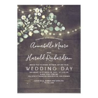 Leafy Greenery | Rustic Country Wedding Invitations
