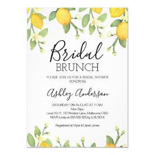 Lemon Bridal Brunch Bridal Shower Invitation