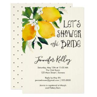 Lemon Bridal Shower, Let's Shower the Bride Invitations