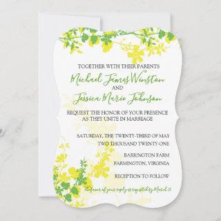 Lemon Lime Vines Wedding Invitation