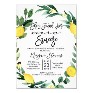 Lemon Main Squeeze Bridal Shower Invitation