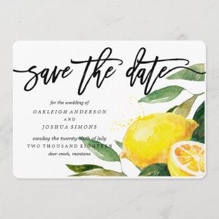 Lemon Watercolor Save the Date Script