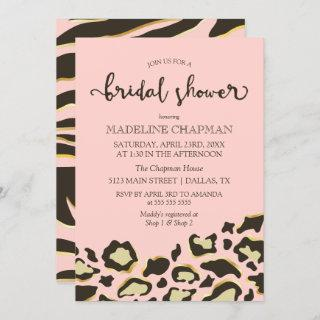 Leopard Spots & Tiger Stripes Bridal Shower Invitation