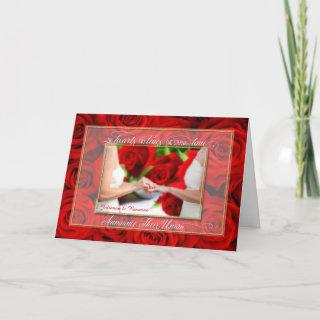 Lesbian Union Announcement Custom with Red Roses