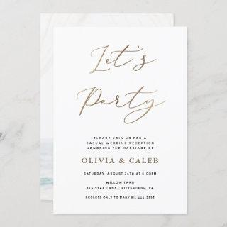 Let's Party Elopement Wedding Reception Invitations
