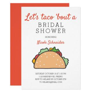 Let's Taco Bout A Bridal Shower Fiesta Invitations