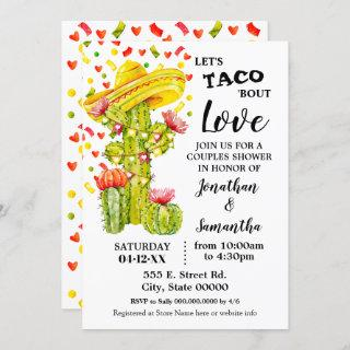 Let's taco 'bout Love fiesta couples shower Invitations