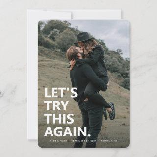 Let's Try This Again | Casual Save the Date Photo