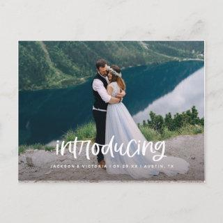 Lettering Introducing Elopement Postcard