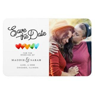 LGBTQ - Save the Date Script with Photo Magnet