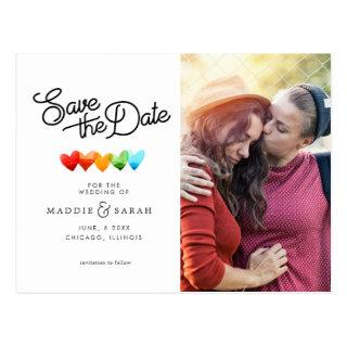 LGBTQ - Save the Date Script with Photo Postcard