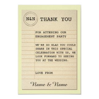 Library Thank You Wedding Books Love Story Invitation